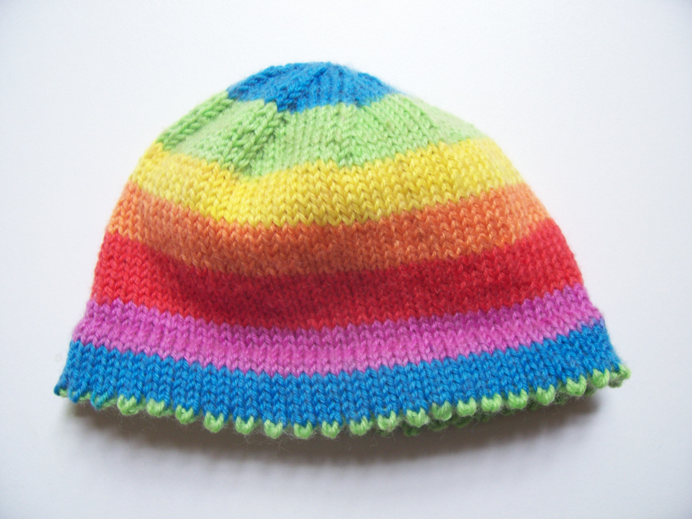 Free Knitting Patterns For Sock Weight Yarn : Picot-Hem Preemie Hat a k n i t i c a
