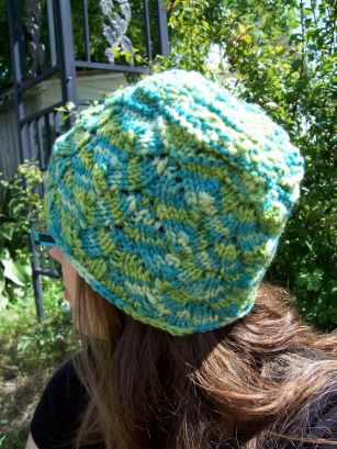 Leafalicious Hat Pattern.  Knit from the top down, just to see if it can be done.  It can!  aknitica designs.