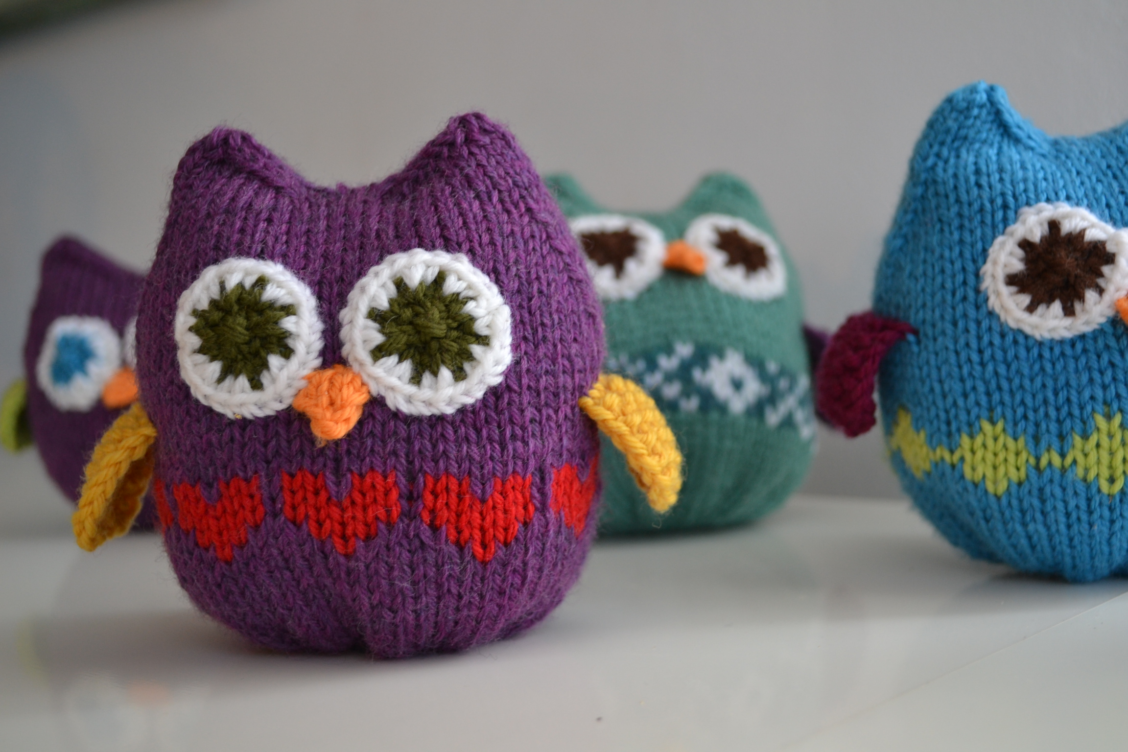 Owl Knitting Patterns Free : Squish Owls a k n i t i c a